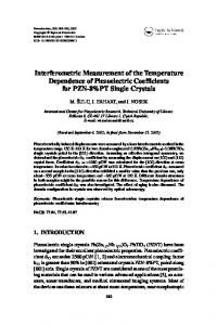 Interferometric Measurement of the Temperature Dependence of ...