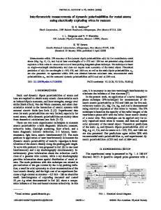 Interferometric measurements of dynamic ... - APS Link Manager