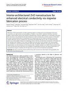 Interior-architectured ZnO nanostructure for ... - BioMedSearch