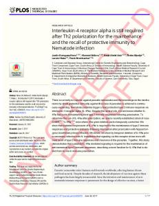 Interleukin-4 receptor alpha is still required after ... - Semantic Scholar