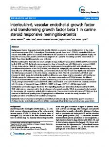 Interleukin-6, vascular endothelial growth factor and ... - BioMedSearch