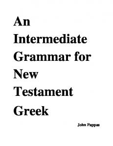 Intermediate Greek of the New Testament - Bible Greek on VideoPOD