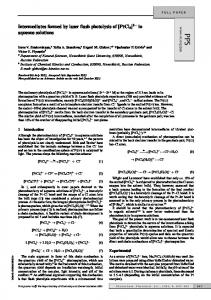 Intermediates formed by laser flash photolysis of