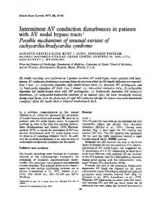 Intermittent AV conduction disturbances in patients with AV ... - NCBI