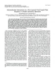 Intermolecular Interactions in a Two-Layered Viral ... - Journal of Virology