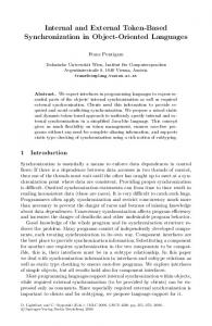 Internal and External Token-Based Synchronization in Object-Oriented ...