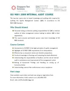 Internal Audit Course