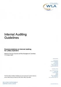 Internal Auditing Guidelines