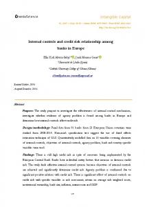 Internal controls and credit risk relationship among banks in Europe