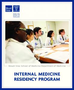 INTERNAL MEDICINE RESIDENCY PROGRAM - Mount Sinai ...