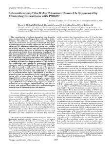 Internalization of the Kv1.4 Potassium Channel Is Suppressed by ...