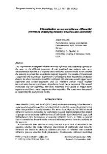 Internalization versus compliance: Differential ... - Wiley Online Library
