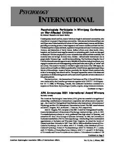 international - American Psychological Association