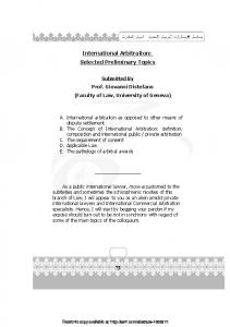 International Arbitration - Papers.ssrn.com