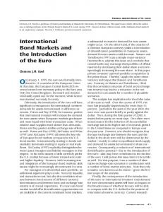 International Bond Markets and the Introduction of the Euro