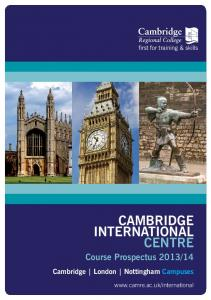 International Brochure - Cambridge Regional College
