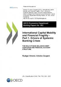 International Capital Mobility and Financial Fragility ... - OECD iLibrary