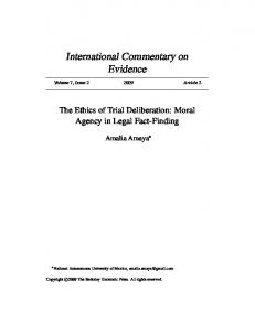 International Commentary on Evidence