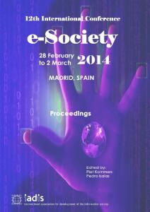 INTERNATIONAL CONFERENCE e-Society 2014