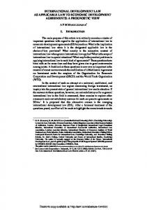 international development law as applicable law to ... - SSRN papers