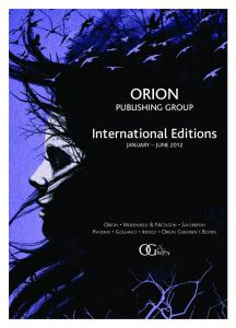 International Editions - Spring 2012 - Orion Books