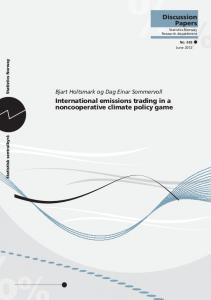 International emissions trading in a noncooperative climate policy game