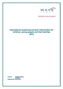 International experience of early intervention for children ... - C4EO