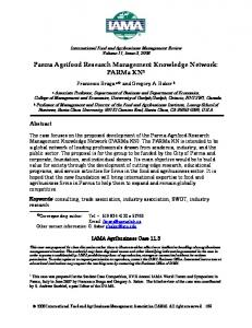 International Food and Agribusiness Management ... - AgEcon Search