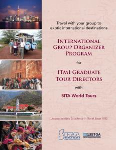 International Group Organizer Program ITMI Graduate Tour Directors