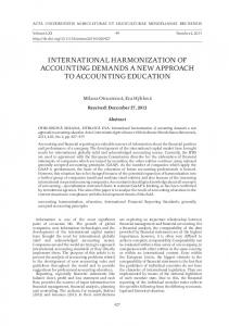 international harmonization of accounting demands a ...