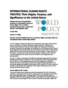 International Human Rights Treaties - World Policy Institute