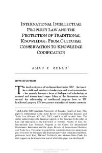 international intellectual property law and the ...