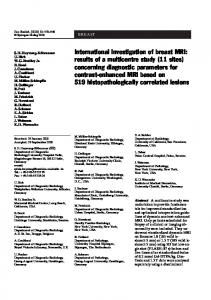 International investigation of breast MRI - Springer Link