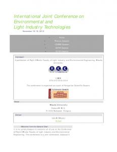 International Joint Conference on Environmental and