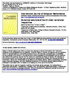 International Journal of Computer Mathematics