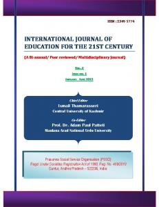 international journal of education for the 21st century
