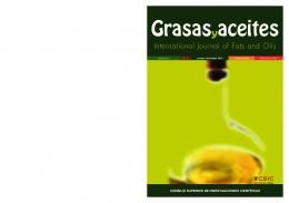 International Journal of Fats and Oils