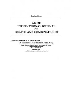 international journal of graphs and combinatorics - UdL