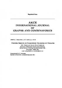 international journal of graphs and combinatorics