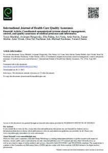 International Journal of Health Care Quality ...