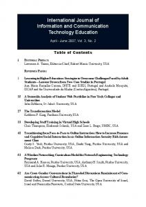 International Journal of Information and Communication Technology ...