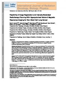 International Journal of Radiation Oncology, Biology ...