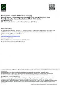 International Journal of Structural Integrity