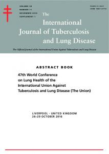 International and Lung Disease Journal of Tuberculosis