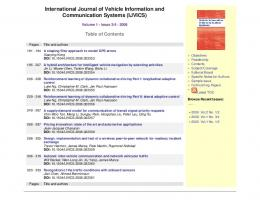 International Journal of Vehicle Information and Communication ...