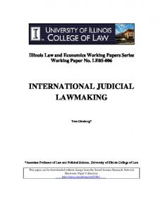 international judicial lawmaking - SSRN papers