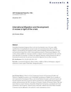 International Migration and Development - the United Nations