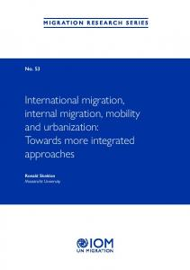 International migration, internal migration, mobility and ... - UN iLibrary