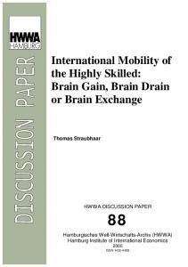 International Mobility of the Highly Skilled: Brain Gain ... - CiteSeerX