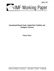 International Mutual Funds, Capital Flow Volatility, and Contagion - IMF